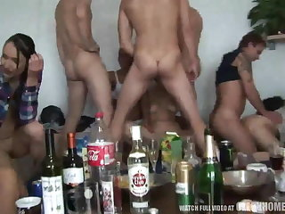Young Amateur Girls Pounded within reach Hardcore Home Party