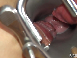 Violeta's orgasms adjacent to a speculum in will not hear of vagina