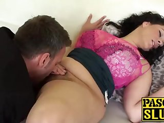 Senseless Anastasia Lux getting their way cootchie tongued and frigged