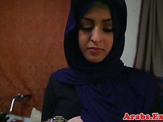 Arab hijabi fucked in mishandle grasping pussy