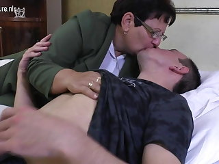 Taboo mature Ma fucks her young boy