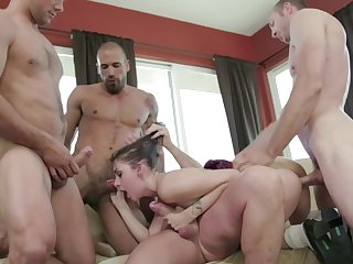 Teen babe bore fucked in a group chapter coupled with made to swallow