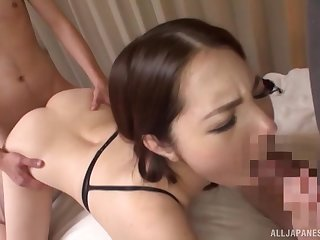 Japanese handsomeness loves it hardcore from behind