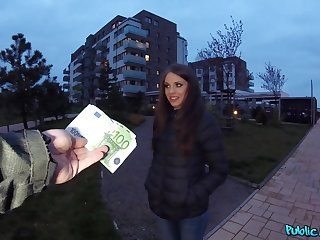 Czech girl paid for some grouchy fun on cam