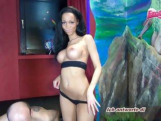 german ebony teen stripper threesome