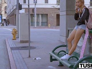 Teen blonde loves anal sex very much