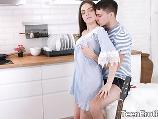 Lustful Teen GF Milana Despatch-case Is Satisfied by Her Mans Big Cock