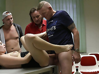 Bawdy Marie Skyler rides several cocks more the driving courses