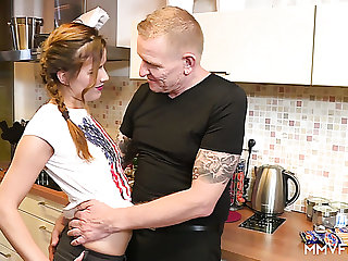 Horn-mad fresh cutie with pigtails Lilith has lured gay blade for casual fuck