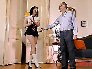 Voracious chick Kittina teases her confess pussy coupled with switches to riding gumshoe