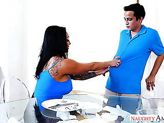 Gormless but horny young buddy gets seduced by super Ashton Blake for sex