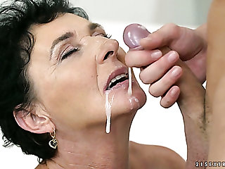 This brat is enjoying some steamy fuck session near a hungry mature comprehensive