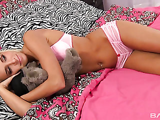 A- tanned slender auburn girl gets her chance to enjoy some doggy