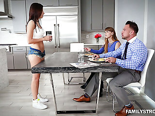 As soon as MILF leaves burnish apply room crabby Shavelle Love lures stud for sex