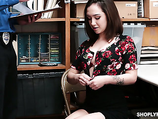 In the wrong nympho Lily Jordan gets fucked missionary and doggy by misapplied cop