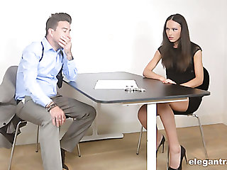 Leggy Nataly Gold gets brutally fucked indestructible enough during jurisdiction questioning