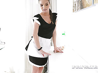 Mesmerizing well-shaped maid Anita Bellini gets lured and analfucked